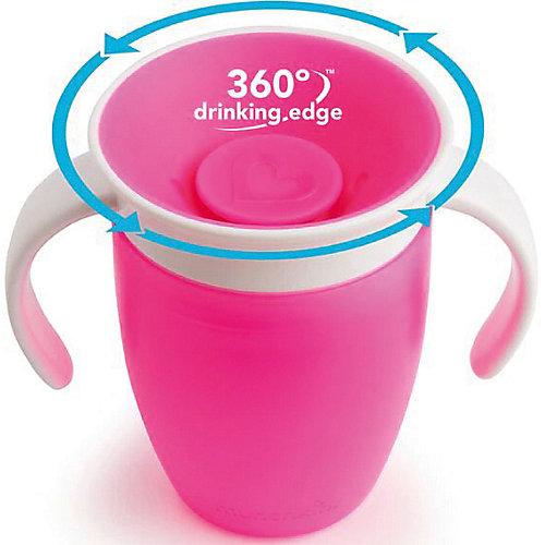 Поильник-непроливайка Munchkin 360° с ручками, 207 мл. - розовый от munchkin