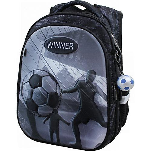 Рюкзак Winner 8073 с брелоком, черный от WINNER