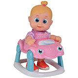 """Интерактивная кукла Bouncin' Babies """"Кукла Бони"""", с машиной, 16 см"""
