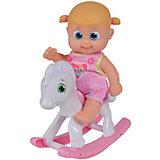 """Интерактивная кукла Bouncin' Babies """"Кукла Бони"""", с лошадкой-качалкой, 16 см"""
