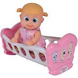 """Интерактивная кукла Bouncin' Babies """"Кукла Бони"""", с кроваткой, 16 см"""