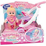 """Интерактивная кукла Bouncin' Babies """"Кукла Бони"""", с коляской, 16 см"""