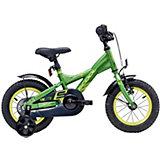 """Двухколесный велосипед Scool XXlite 12"""", чёрно-зелёный"""