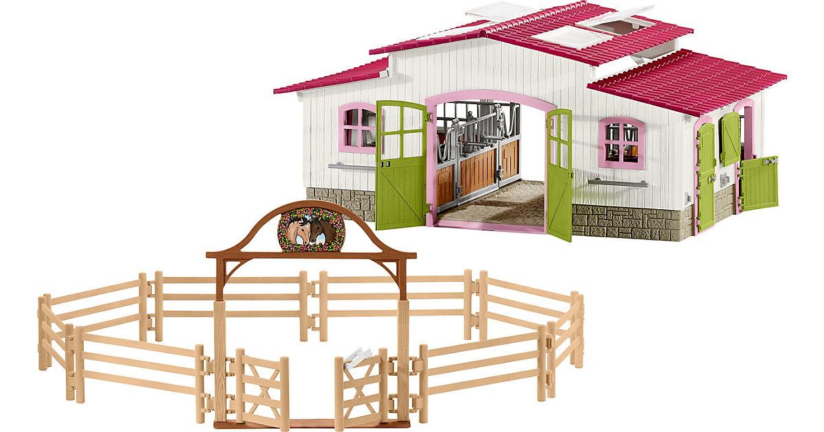 Bundle Schleich: 42344 Reiterhof + GRATIS 42434 Pferdekoppel mit Eingangstor