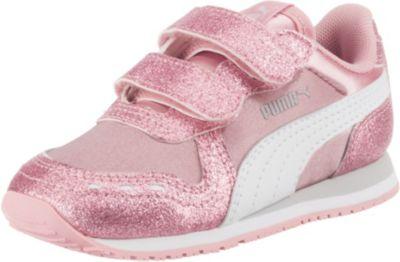 Baby Sneakers Low CABANA RACER GLITZ V für Mädchen, PUMA