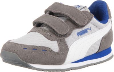 Puma cabana racer sl sneaker low white black blue baby