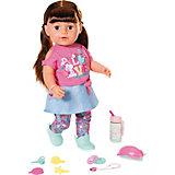 Интерактивная кукла Zapf Creation Baby born Сестричка брюнетка, 43 см