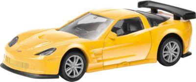 "Модель авто 3"" CHEVROLET CORVETTE C6-R 1:64, желтая"