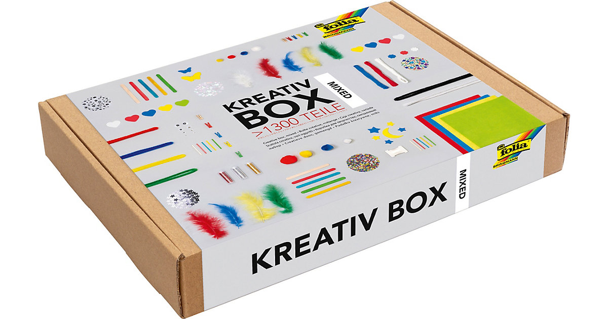 "Kreativ Box ""Material Mix"", über 1.300 Teile bunt"