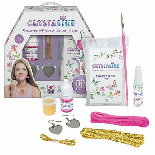 Набор для создания украшений Crystalike, серёжки, 2 подвески из шенилла от Crystalike
