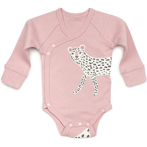 Комплект: боди и нагрудный фартук Happy Baby для девочки - розовый от Happy Baby