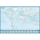 Контурная карта Мира, настенная