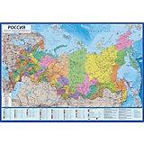 """Карта """"Россия Политико-административная"""" в тубусе"""