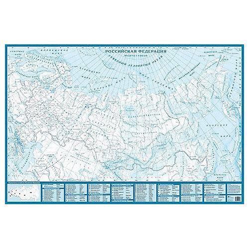 Контурная карта Российской Федерации, настенная от АГТ Геоцентр