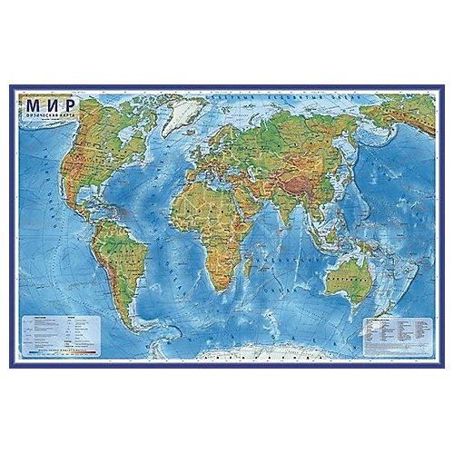 """Карта """"Мир Физический"""" в тубусе от Globen"""