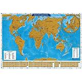 """Скретч-карта мира """"Карта твоих путешествий"""" в тубусе"""
