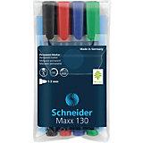 Набор перманентных маркеров Schneider Novus Maxx 130, 4 цвета