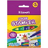 Фломастеры-штампы Luxor Color Stamper, 8 цветов, смываемые