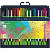 Набор капиллярных ручек Schneider Novus Line-Up, 16 цветов