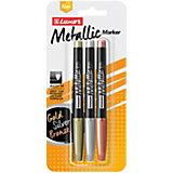 Набор маркеров для декорирования Luxor Metallic, 3 цвета