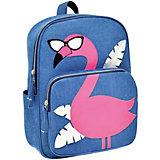 Рюкзак Феникс+ «Фламинго» синий