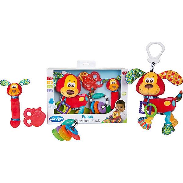 Spiel- und Beißring-Geschenkset Hündchen (4tlg.), Playgro lP2ykt