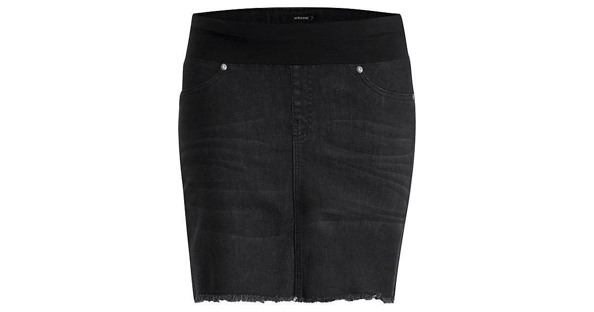 SUPERMOM · Umstandsrock Jeans Black Denim Gr. 146/158 Damen Kinder