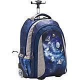 Рюкзак на колесах Belmil Easy go Universum, синий