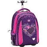 Рюкзак на колесах Belmil Easy go Misty, фиолетово-розовый