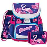 Ранец Belmil Mini-fit Flamingo, с наполнением, сине-розовый