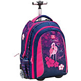 Рюкзак на колесах Belmil Easy go Tropical pink, сине-розовый