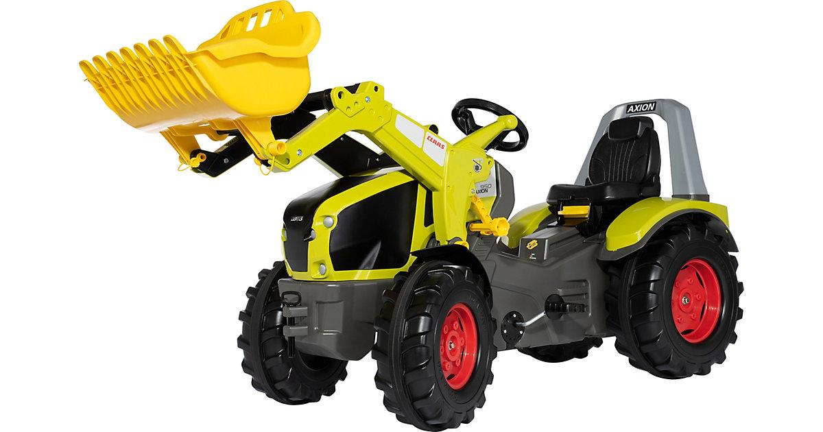 Trettraktor rollyX-Trac Premium Claas Axion 950 mit Frontlader gelb