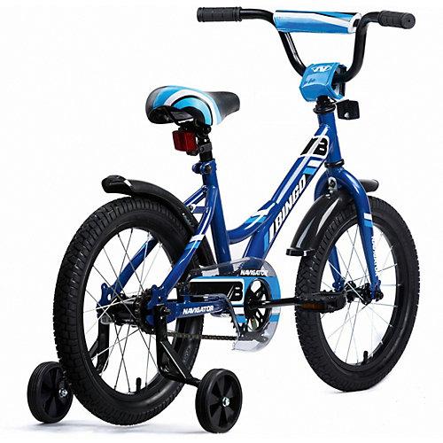 Двухколесный велосипед Navigator Bingo, 16 дюймов, синий - разноцветный от Navigator