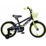 Двухколесный велосипед Navigator Basic, 16 дюймов, зеленый