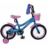 Двухколесный велосипед Navigator Lucky, 14 дюймов, голубой