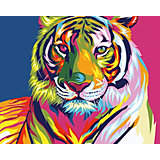 Набор для раскрашивания по номерам Артвентура «Радужный тигр Ваю Ромдони»