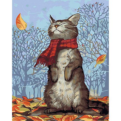 Набор для раскрашивания по номерам Артвентура «Кот в шарфе» от Артвентура