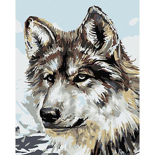 Набор для раскрашивания по номерам Артвентура «Серый волк» от Артвентура
