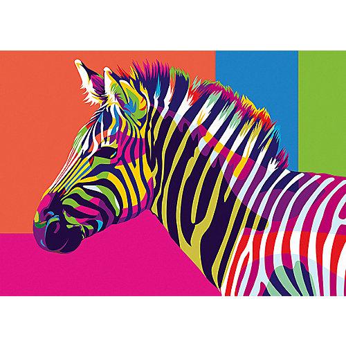 Набор для раскрашивания по номерам Артвентура «Радужная зебра» от Артвентура