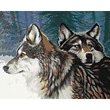 Набор для раскрашивания по номерам Артвентура «Взгляд волчицы»