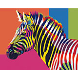 Набор для раскрашивания по номерам Артвентура «Радужная зебра»