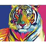 Набор для раскрашивания по номерам Артвентура «Радужный тигр»