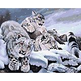 Набор для раскрашивания по номерам Артвентура «Снежные барсы»