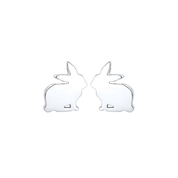 O/&S Ohrstecker Ostern 925 Silber Kinder Ohrringe Osterei Küken Ei Hase Kaninchen
