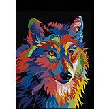 Набор для раскрашивания по номерам Артвентура «Радужный волк»