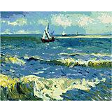 Набор для раскрашивания по номерам Артвентура «Ван Гог «Морской пейзаж в Сен-Мари»