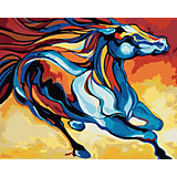 Набор для раскрашивания по номерам Артвентура «Сказочная лошадь Марсии Болдуин»