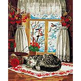 Набор для раскрашивания по номерам Артвентура «Зима за окном»