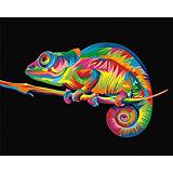 Набор для раскрашивания по номерам Артвентура «Радужный хамелеон Ваю Ромдони»
