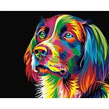 Набор для раскрашивания по номерам Артвентура «Радужный пес Ваю Ромдони»